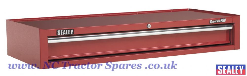 Add-On Chest 1 Drawer with Ball Bearing Runners Heavy-Duty- Red
